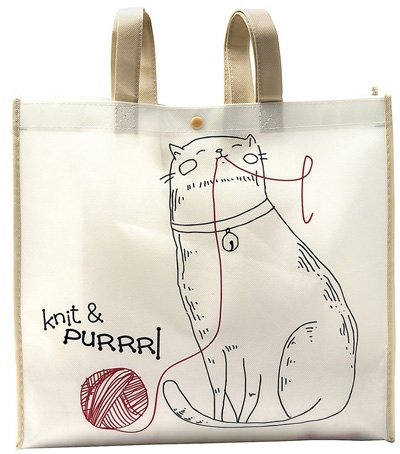Knit & Purrrl Reusable Tote Bag