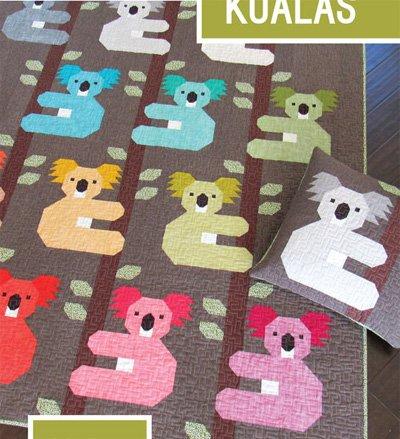 Koalas Quilt in 2 Sizes and Pillow Pattern by Elizabeth Hartman