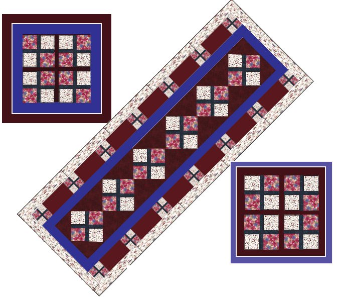 Brick Path Quarter Quilt Pattern by Kaye Wood