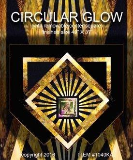 Circular Glow Wallhanging Pattern by KwiltArt