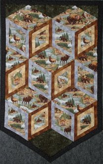 Diamonds of Yellowstone Wallhanging EPattern by Kaye Wood
