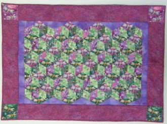 Dimensional Diamonds Quilt  EPattern by Kaye Wood