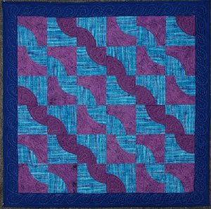 Drunkard's Path Quilt Pattern in 4 Sizes by Kaye Wood