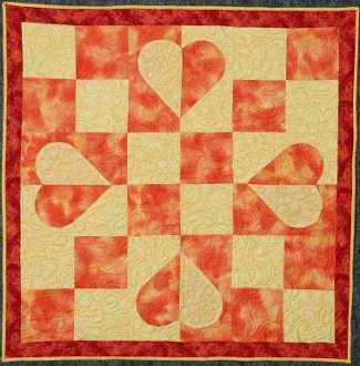 Four Patch Hearts Quilt EPattern by Kaye Wood