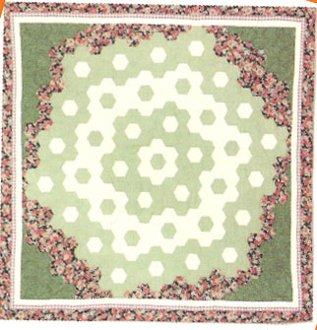 Grandmother's Path Around The Flower Garden Quilt EPattern by Kaye Wood