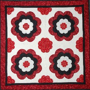 Hearts In Bloom Quilt EPattern by Kaye Wood