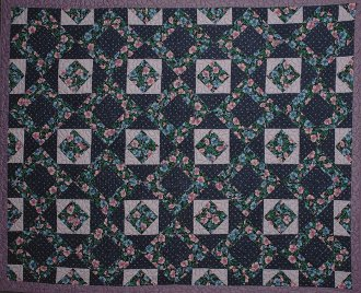 Morning Glory Quilt Pattern in 3 Sizes by Kaye Wood