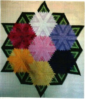 Mums In Bloom Quilt Pattern by Kaye Wood