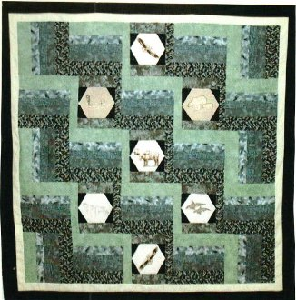 Other Side of the Fence Quilt Pattern in 5 Sizes by Kaye Wood