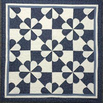 Pinwheel Hearts Quilt  EPattern by Kaye Wood