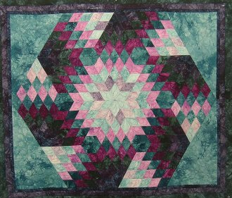 Spinning Diamonds Wallhanging Pattern by Kaye Wood