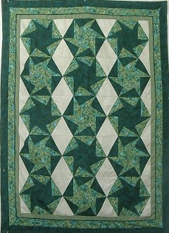 Twirling Stars Quilt EPattern by Kaye Wood