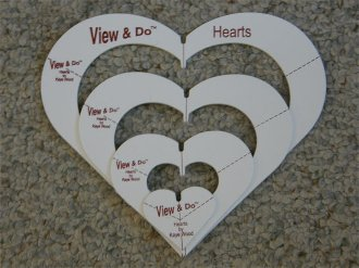 View & Do Heart Shapes 4 Sizes by Kaye Wood