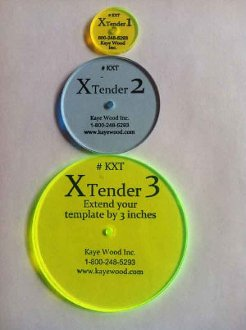 X-Tenders Set of 3 Quilting Template and Tool Extenders by Kaye Wood