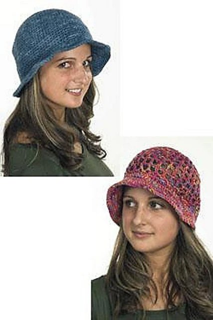 Ladies Crochet Hats Pattern 1296 by Plymouth Yarns