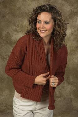 Ladies Upside Down Sweater Pattern by Plymouth