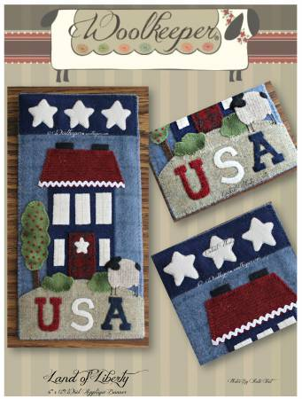 Land of Liberty Wallhanging/Banner Pattern by Woolkeeper