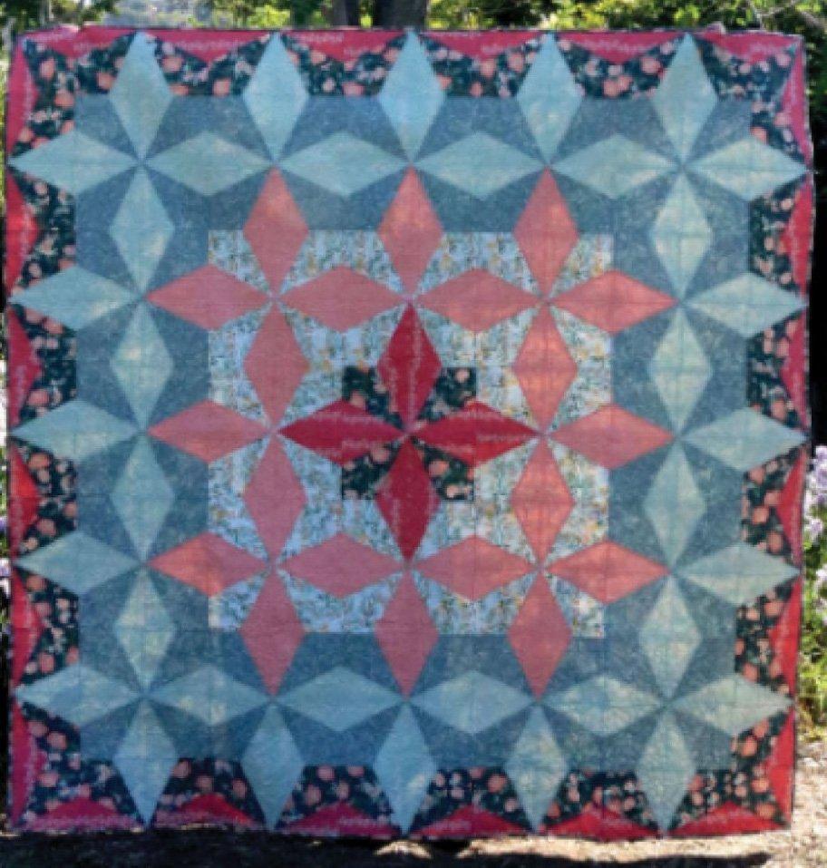 Lattice Star Quilt Pattern by Cut Loose Press