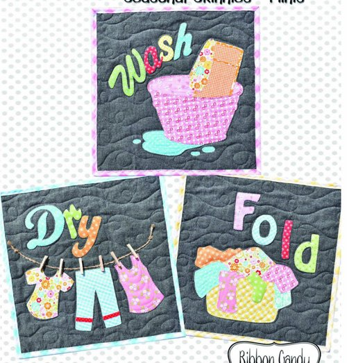 Laundry Day Seasonal Skinnies Pattern by Ribbon Candy Quilt Company