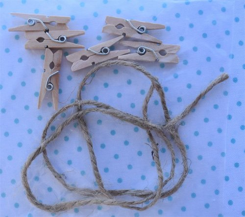 Laundry Day Twine and Clothespin Pack by Ribbon Candy Quilts