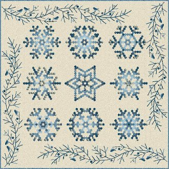 Snowflake Quilt Pattern by Laundry Basket Quilts