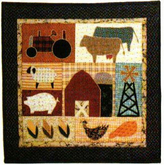 The Farm Set of 2 Wall Quilt Patterns by Little Country Quilts