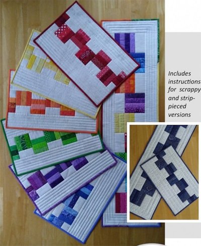 Leftovers Placemat and Tablerunner Patterns by Canuck Quilter Designs