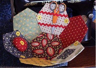 Hexie Sewing Basket Pattern by Legacy Patterns