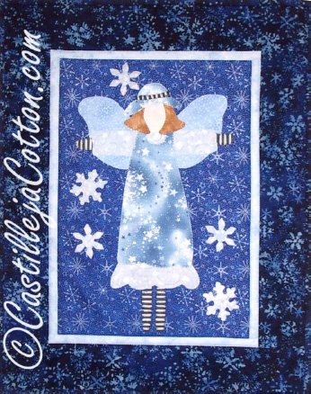 Let it Snow Angel Epattern by Castilleja Cotton