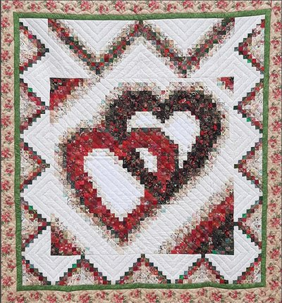 Linking Hearts Quilt Pattern by Log Cabin Quilt Shop