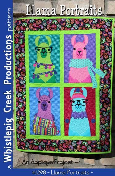 Llama Portraits Quilt Pattern by Whistlepig Creek Productions