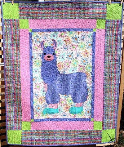 Llama Sunshine Quilt Pattern by Whistlepig Creek