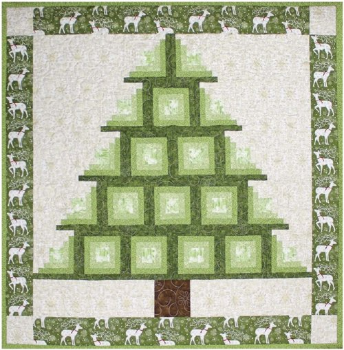 Log Cabin Tree Quilt Pattern by Cut Loose Press
