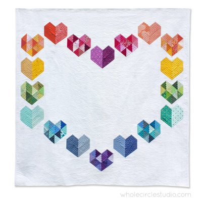 Love at First Sight Quilt Pattern by Whole Circle Studio