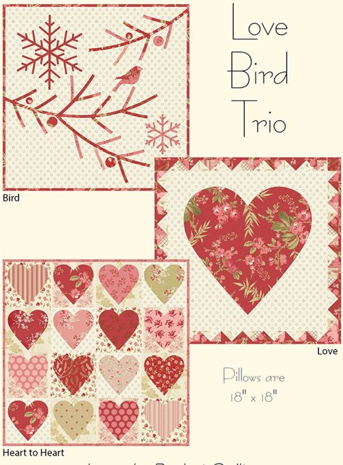 Love Bird Trio Pillow Pattern by Laundry Baskets