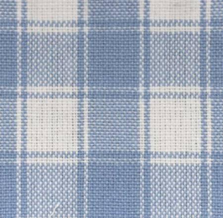Tea Towel Homespun Light Blue on White Check Tea Towel
