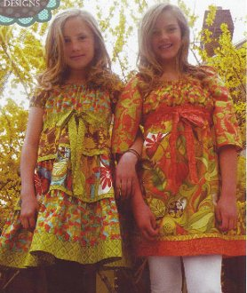 London Peasant Top/Dress Pattern for Girls by Lila Tueller Designs