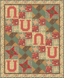 Lucky Star Quilt Pattern by Aunt Em's Quilts