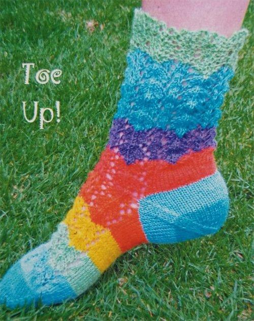 Lucky Stripe Sock Knitting Pattern by Natalie Wilson