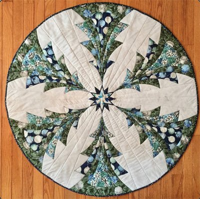 Luminous Table Topper/Tree Skirt Pattern by Quilted Garden Designs
