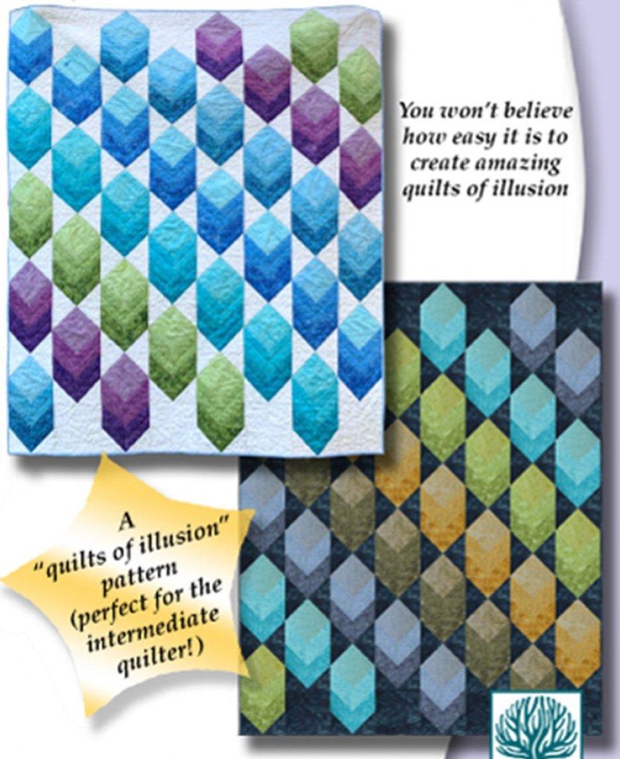 Magic Cubes - Colorfall Quilt Pattern by Karen Combs