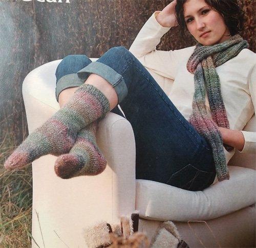Marble SRK 119 Socks & Scarf Knitting Pattern by Kertzer