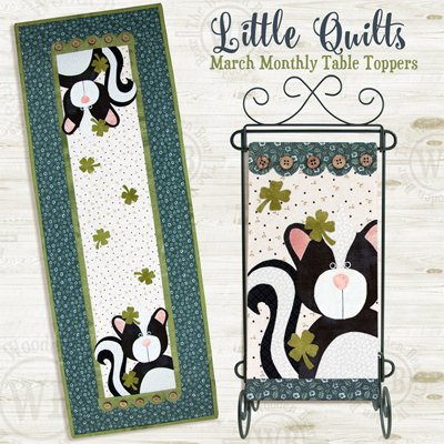 Just My Luck Wallhanging and Tablerunner Applique Pattern by The Wooden Bear