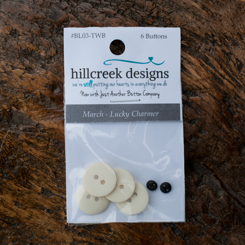 March Lucky Charmer Set of 6 Buttons by Hillcreek Designs