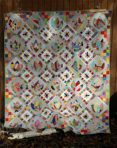 Mary's Garden Quilt Pattern by Aunt Em's Quilts