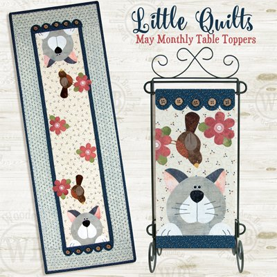 May Cattin' Around Applique Tablerunner and Wallhanging Pattern by The Wooden Bear
