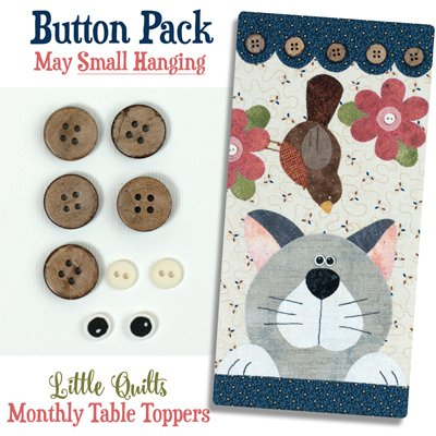 May Cattin' Around Button Pack for Small Wallhanging by The Wooden Bear