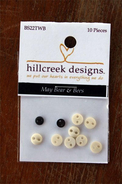 May Bears & Bees Button Pack 10pc by Hillcreek Designs