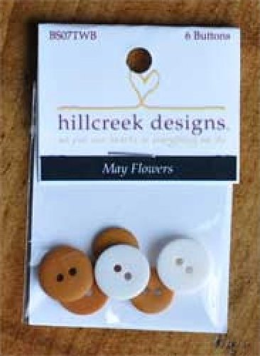 May Flowers Set of 6 Buttons by Hillcreek Designs