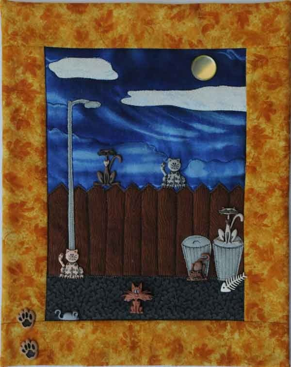 Alley Cats Button Quilt Pattern and Buttons by Mouse Blankets